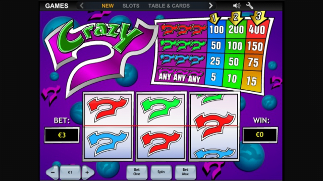Video Crazy 7 slot 69956