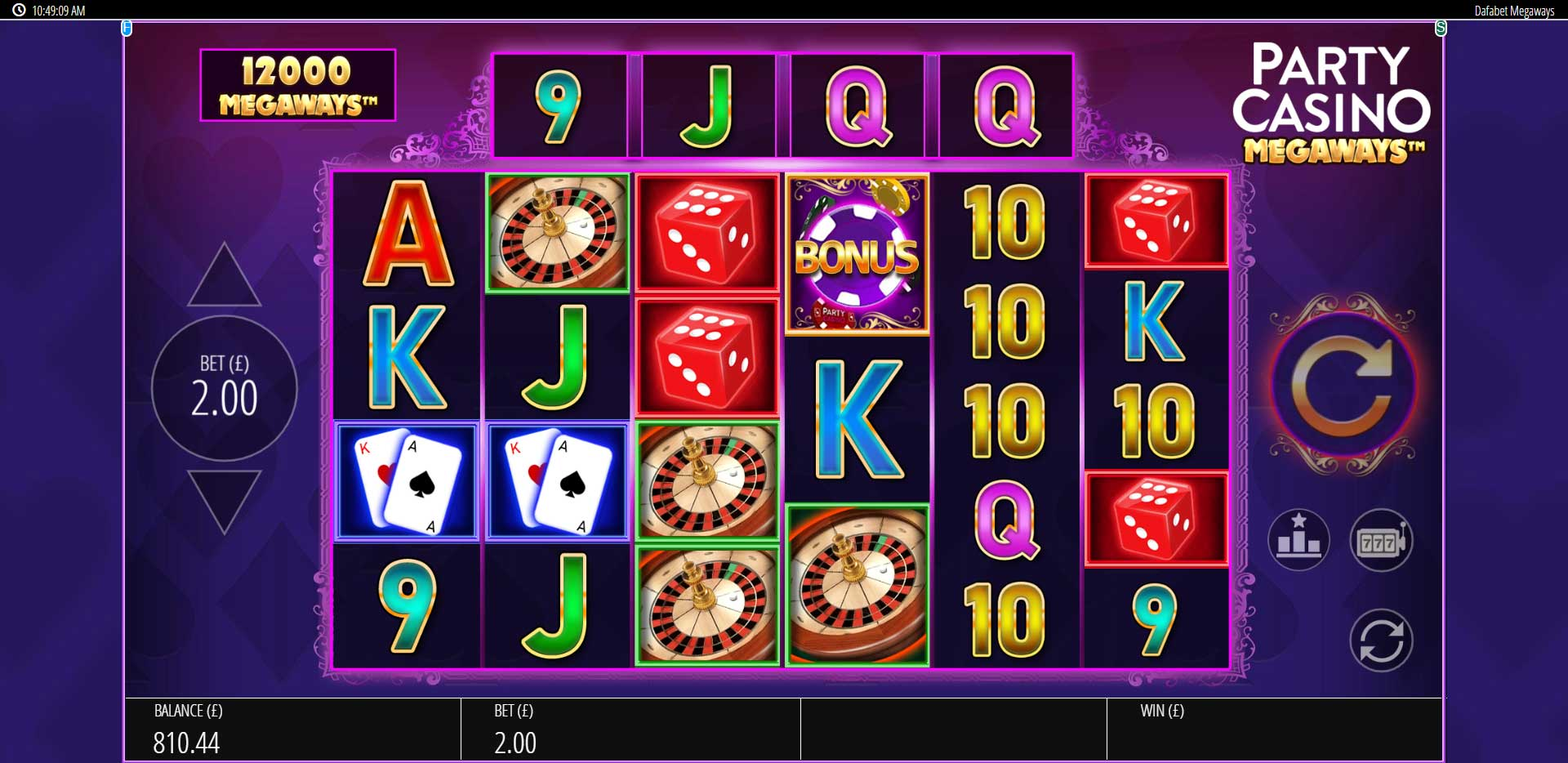 Slumptalsgeneratorn casinospel blueprint 9430