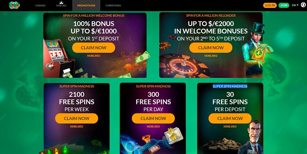 Casino med Novomatic Spin regeringen