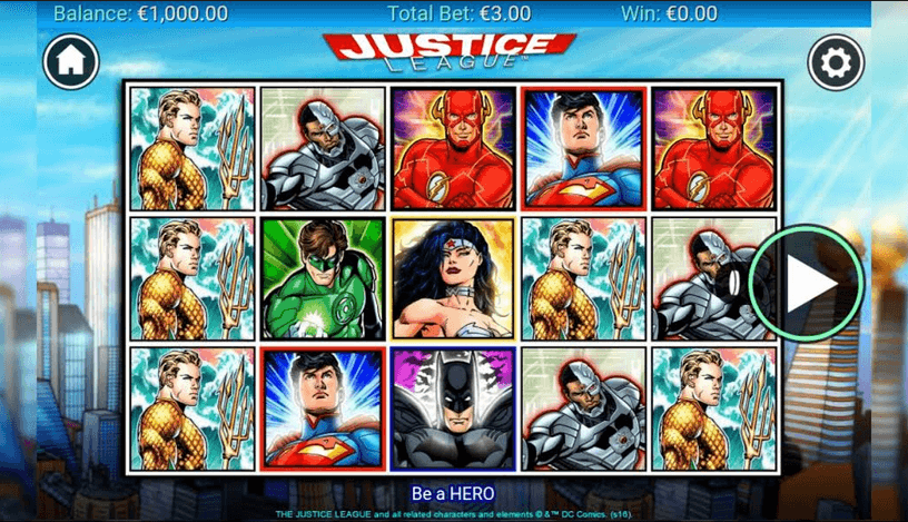 Casino heroes Justice League enkelt