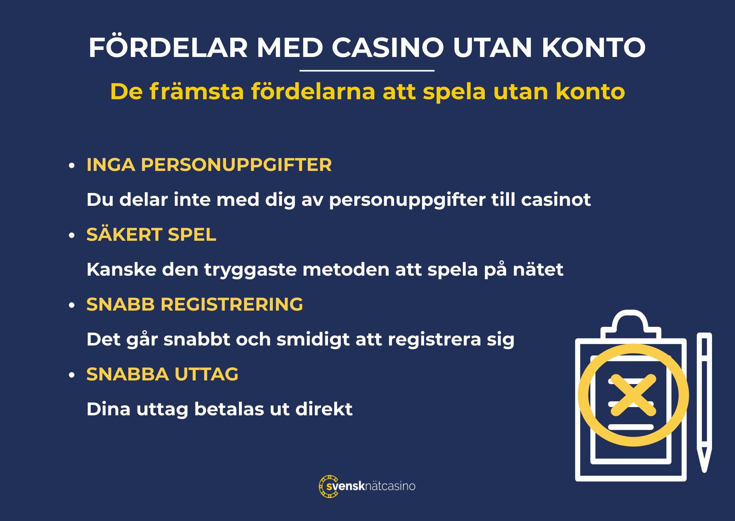 Casino utan konto bästa 26522