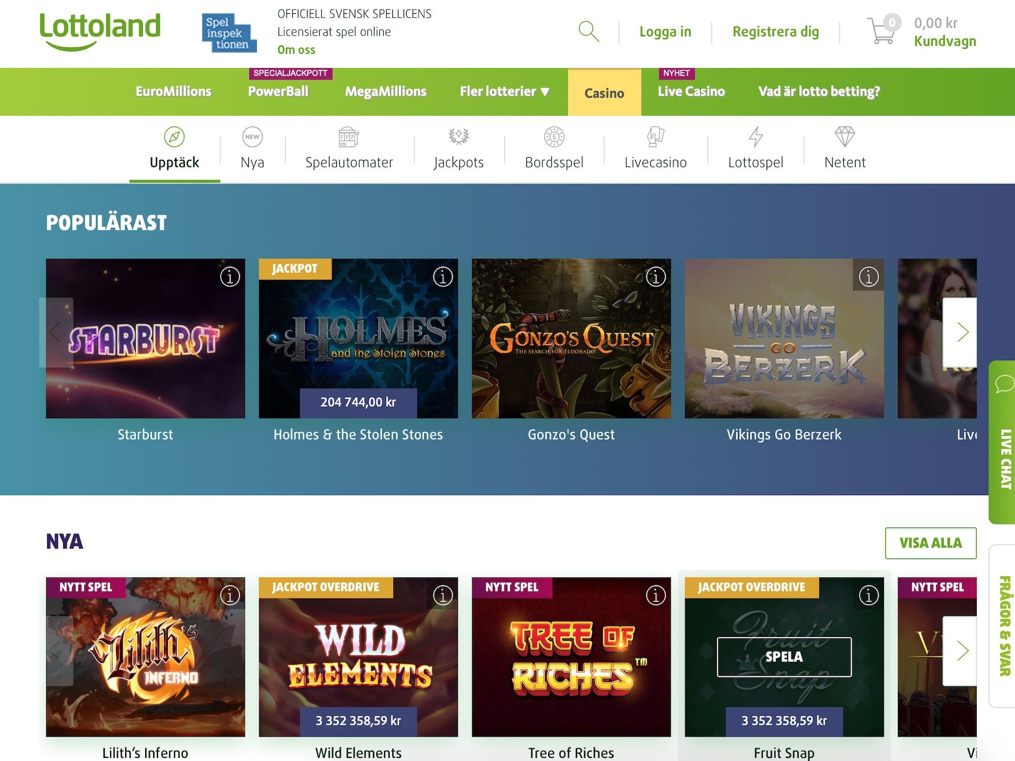 Lottoland bästa skraplotterna online tarjoavat