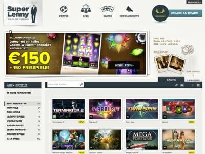 Spil100kr gratis SuperLenny casino städer
