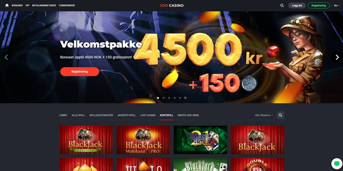 Giveaway hos casino Joo spilleren