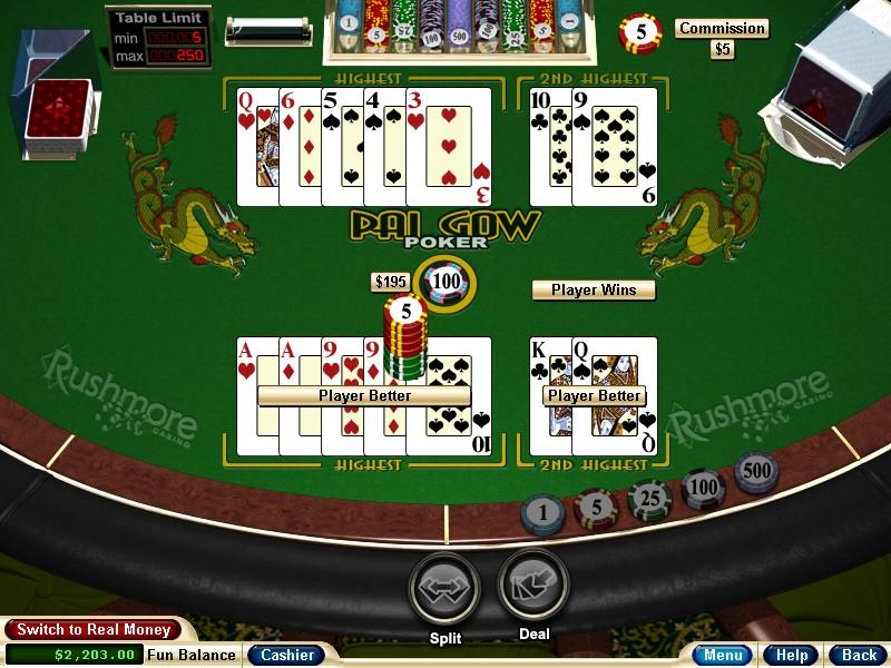 Kortspel slå på högen tempo
