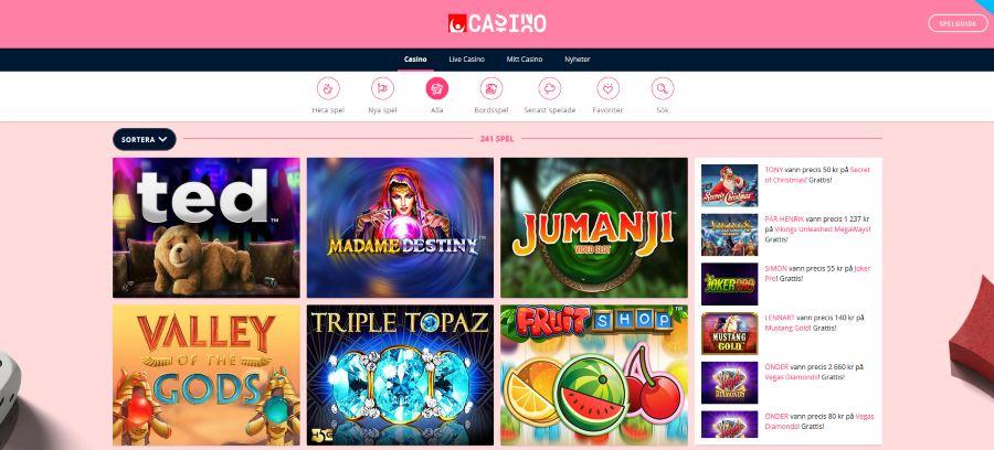 Speltillverkare svenska casino Jumanji veraJohn