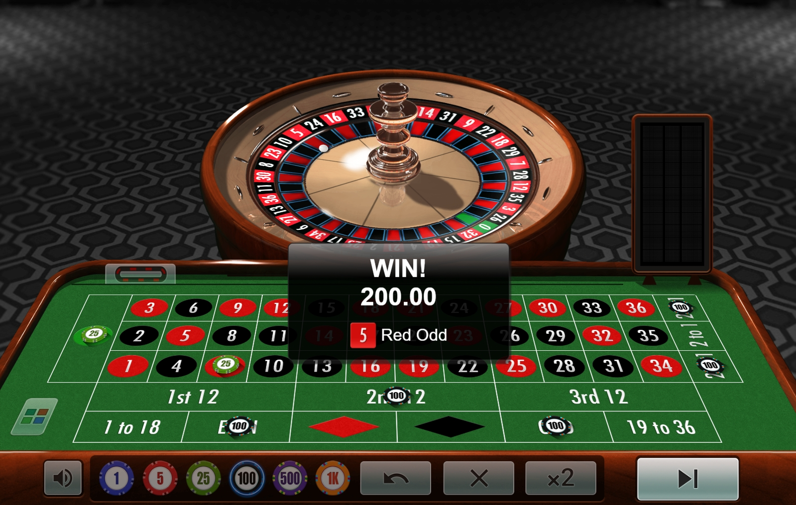 Roulette extra belöningar 95905