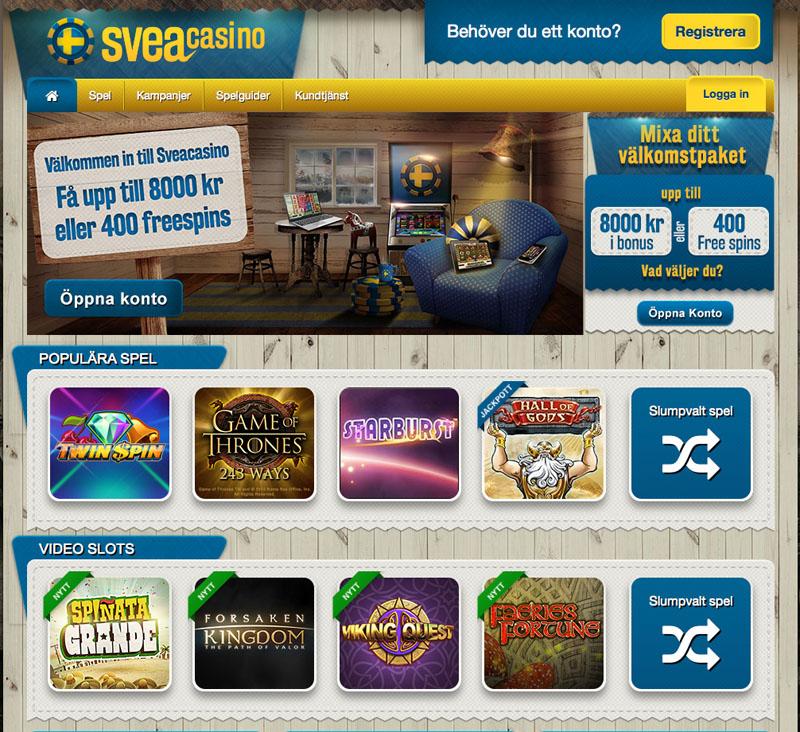 Slots kalender Svea casino 9802