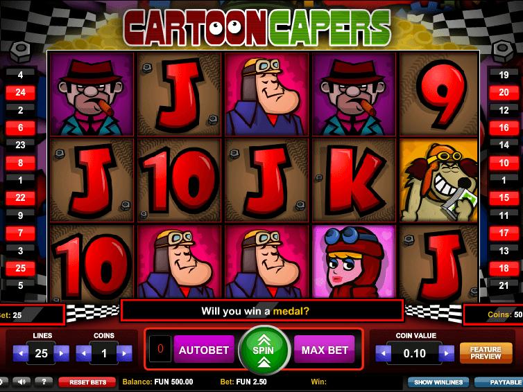 Bästa Cartoon Capers Slot 2893