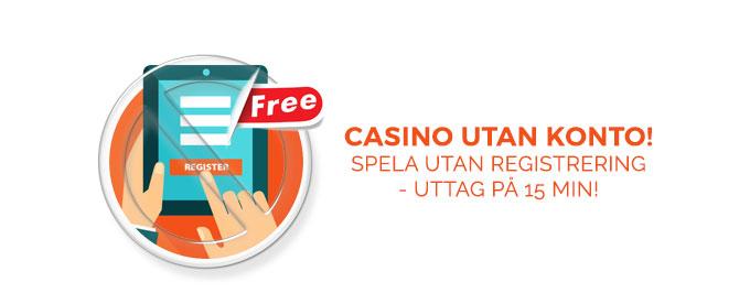 Spela casino utan registrering euteller